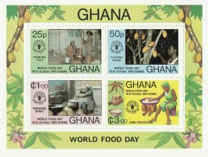 GHANA MINI SHEETS PERF AND IMPERF , 7 SHEETS UNMOUNTED MINT