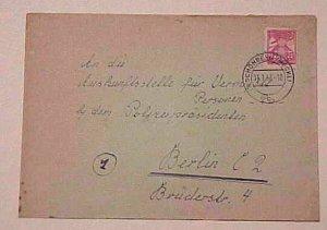 GERMAN LOCAL POST  MECKLENBURG-V JAN 1946 #18IIC SCHONBERG cat.$30.00