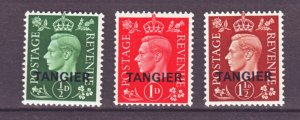J22152 Jlstamps 1937 great britain tangier ovpt,s set mh #515-7