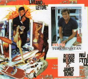 Turkmenistan 2001 JAMES BOND (Sir Roger Moore)  Icons 20th.Century S/S MNH