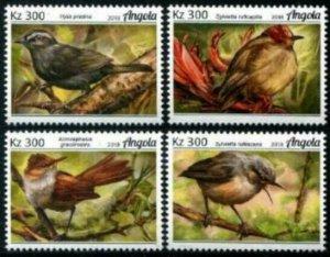 HERRICKSTAMP NEW ISSUES ANGOLA Sc.# 1480-83 Barbets Birds
