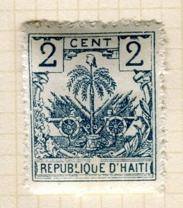 HAITI; Early 1890s Palm Tree issue Mint hinged 2c. Trial print on white paper ?