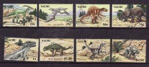 Nauru-Sc#556-63-Unused NH set-Prehistoric Animals-