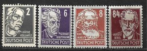 COLLECTION LOT OF 4 GERMANY EAST MH STAMPS 1953 CV + $72 2 SCAN