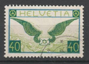 SWITZERLAND 1923 AIRMAIL 40C USED