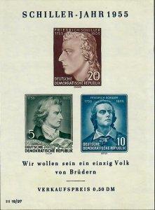 German DDR Sc#243a M/NH, S/S, Cv. $18