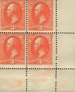 US Sc#214 M/NH/F, LR Corner Block! Minor Foxing At Top, Cv. $760