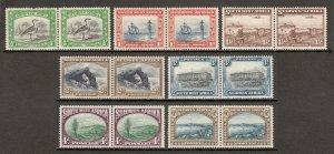 SOUTH WEST AFRICA —SCOTT 108//114 (SG 74//79)— 1931-37 PICTORIALS — MH — SCV $38