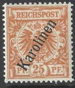 Caroline Islands 1900 SC 5 Mint SCV $145.00