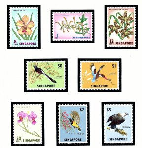 Singapore 62-69 MNH 1963 Birds and Flowers