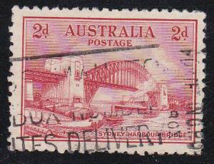 Australia, # 130, Sydney Bridge, Used, 1/2 Cat.
