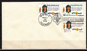 Philippines, 947-949. Girl Scouts, 25th Anniversary. Plain First day cover. ^