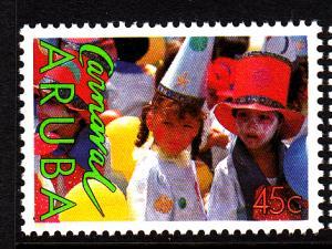Aruba MNH Scott #40 45c Two Children - Carnival