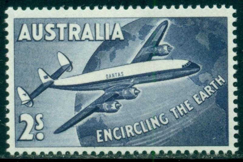 Australia Scott #C8 MLH Super-Constellation Over Globe CV$2+