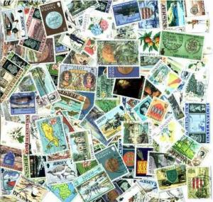 Channel Islands (Guernsey Jersey Isle of Man) Collection 100 Different Stamps