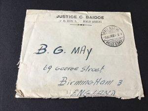 Half Assini 1949 Gold Coast Justice Baidoe stamps cover Ref R28615