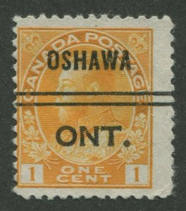CANADA PRECANCEL OSHAWA 1-105