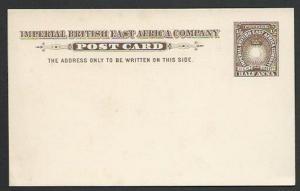 BR EAST AFRICA ½a postcard fine unused.....................................56921