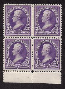 253 Mint,OG,HR... Block of 4... SCV $500.00