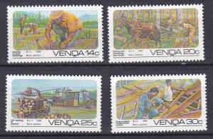 South Africa - Venda # 153-156, Forestry,  NH, 1/2 Cat.