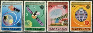 COOK ISLANDS Sc#744-747 1983 World Communications Year Complete OG Mint NH