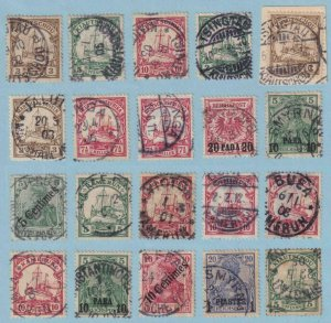 GERMAN COLONIES AND OFFICES - INTERESTING CANCELLATION COLLECTION - V270