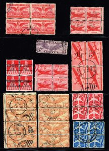 US STAMP BOB AIR MAIL USED STAMP COLLECTION LOT  #M1