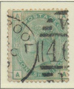 Great Britain Stamp Scott #64 Plate #13, Used, Postal Cancel - Free U.S. Ship...
