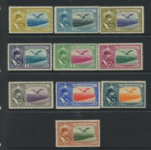 STAMP STATION PERTH Iran #C34-C43 Air Post Issue MLH CV$10.00