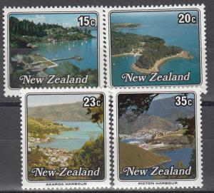 New Zealand MNH 685-8 Harbors Scenic Views 1979
