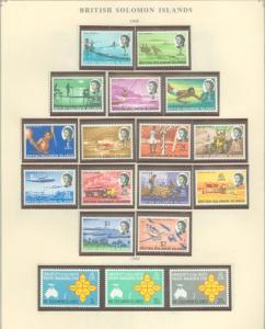 Solomon  Islands 180-197 Mint VF NH