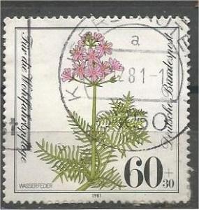 GERMANY, 1996, used 60pf+30pf, Water gillyflower Scott B591