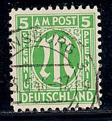 Germany AM Post Scott # 3N4a, used, variation