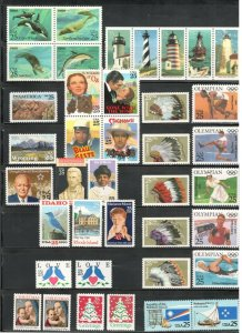 1990 Commemorative Year Mint Set 39 Stamps FREE SHIPPING