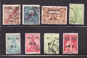#181 // 267 - Early Angola x 8 -  Used  VF  superfleas  cv$18.75
