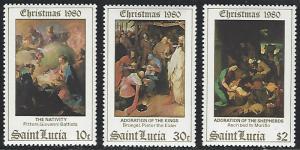 St Lucia #534-536 MNH Full Set of 3