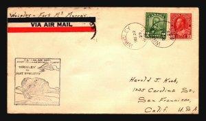 Canada 1929 FFC Wrigley to Ft McMurray - Z17436