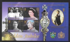 PITCAIRN ISLANDS SGMS613 2002 GOLDEN JUBILEE MNH