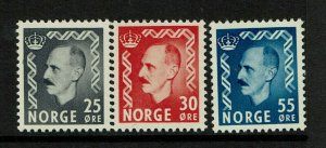 Norway SC# 322-324, Mint Hinged, Hinge Remnant - S9363