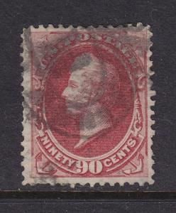 191 F-VF used neat cancel with nice color cv $ 350 ! see pic !