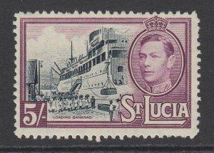 St. Lucia, Scott 124 (SG 137), MLH