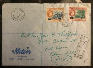 1963 Tortola British Virgin Islands MS Meteor Cover To Mount Dora FL USA