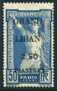 Lebanon 48,hinged.Michel 25. Olympics 1924,surcharged.