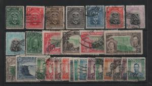 Southern Rhodesia KGV-KGVI fine used collection to 5/- WS13238