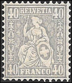 1881 SWITZERLAND  SC# 66 MINT XF NH OG SOUND CV $5.00