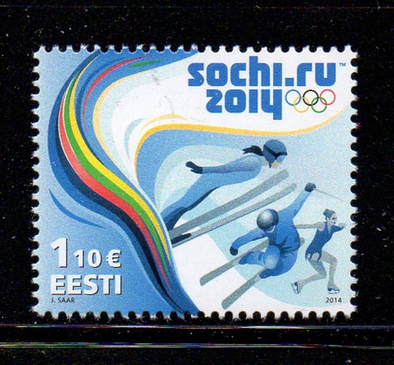 Estonia Sc 748 2014 Sochi Olympics stamp mint NH
