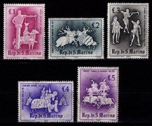 San Marino 1963 Ancient Tournaments, Part Set [Unused]