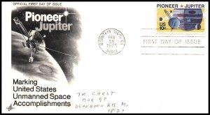 US 1556 Pioneer Jupiter Artcraft Pencil FDC