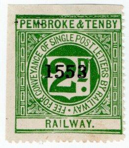 (I.B) Pembroke & Tenby Railway : Letter Stamp 2d