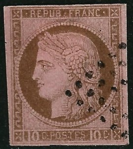 French Colonies Nice SC #20 VF Used hr SCV$12...Grab a Sweet Deal!